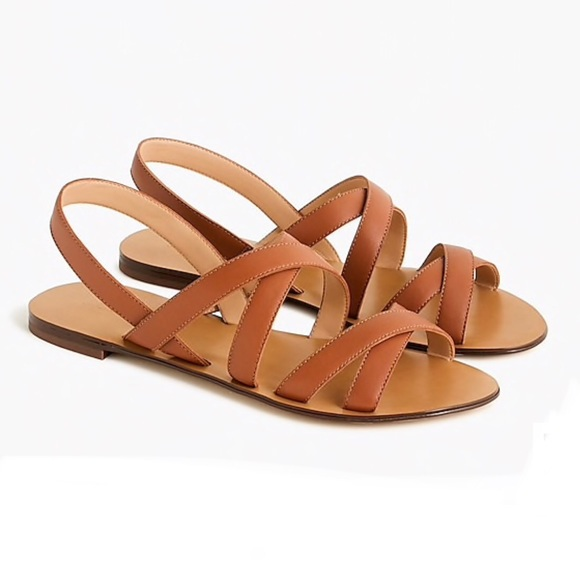 J.CREW CROSS-STRAP - Sandals - burnished pecan YvSI7